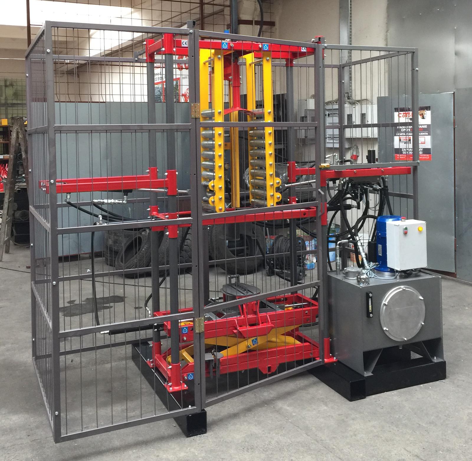 COT-7 hydraulic tyre tripling machine